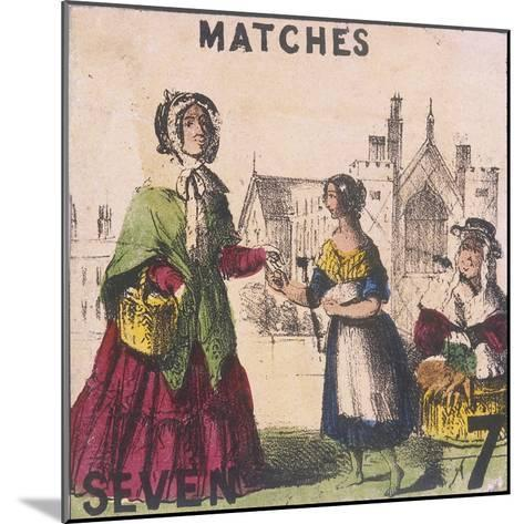 Matches, Cries of London, C1840-TH Jones-Mounted Giclee Print