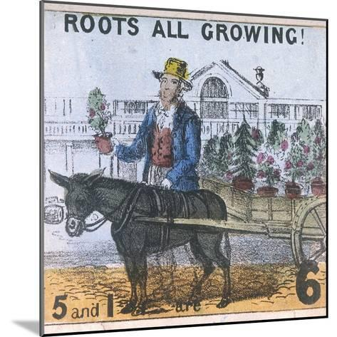 Roots All Growing!, Cries of London, C1840-TH Jones-Mounted Giclee Print