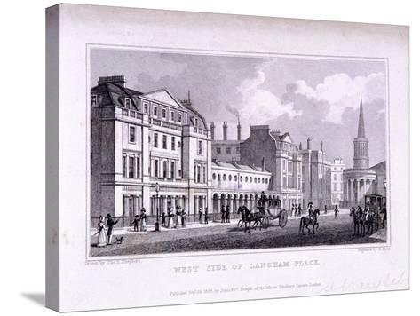 Langham Place, Marylebone, London, 1828-Samuel Owen-Stretched Canvas Print