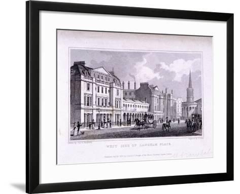 Langham Place, Marylebone, London, 1828-Samuel Owen-Framed Art Print