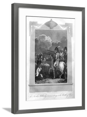 The Duke of Wellington Commanding at the Battle of Assaye, 1816-T Wallis-Framed Art Print