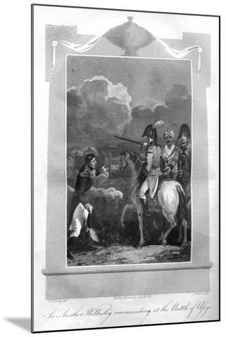 The Duke of Wellington Commanding at the Battle of Assaye, 1816-T Wallis-Mounted Giclee Print