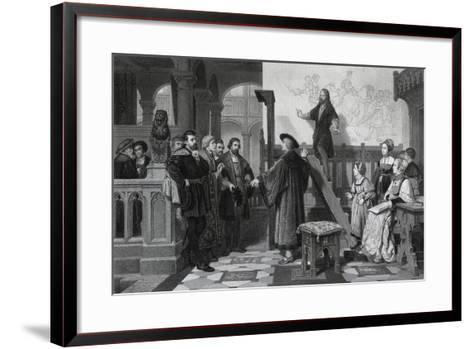 The Emperor Maximilian and Albrecht Durer, Early 16th Century-Thomas Brown-Framed Art Print