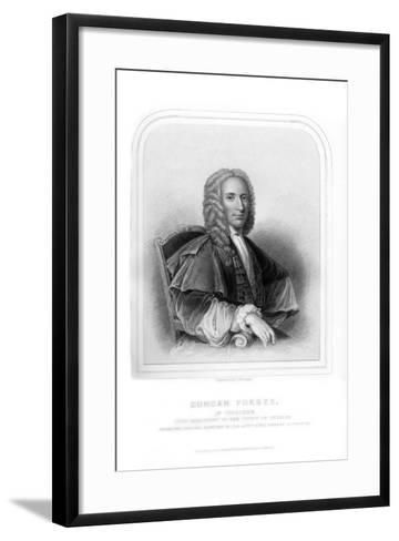 Duncan Forbes, Scottish Politician and Judge-S Freeman-Framed Art Print