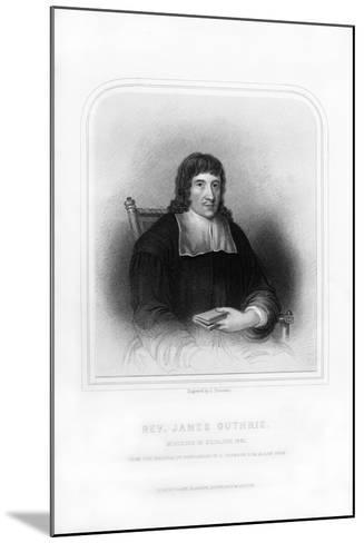 Reverend James Guthrie, Minister of Stirling, 1661-S Freeman-Mounted Giclee Print