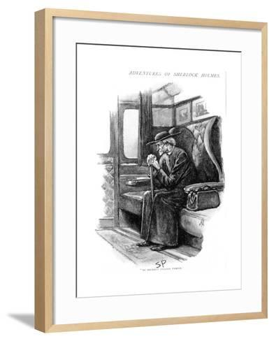 Scene from the Adventure of the Final Problem by Arthur Conan Doyle, 1893-Sidney E Paget-Framed Art Print