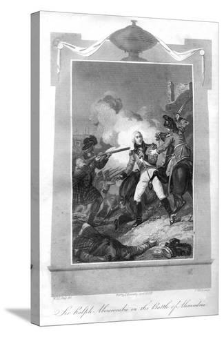 Sir Ralph Abercrombie (1734-180) in the Battle of Alexandria, 1816-T Wallis-Stretched Canvas Print