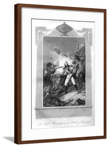 Sir Ralph Abercrombie (1734-180) in the Battle of Alexandria, 1816-T Wallis-Framed Art Print