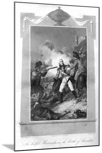 Sir Ralph Abercrombie (1734-180) in the Battle of Alexandria, 1816-T Wallis-Mounted Giclee Print