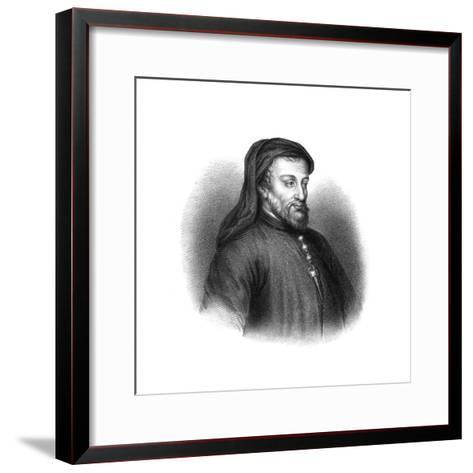 Geoffrey Chaucer, 14th Century English Author, Poet, Philosopher, Bureaucrat, and Diplomat-S Freeman-Framed Art Print