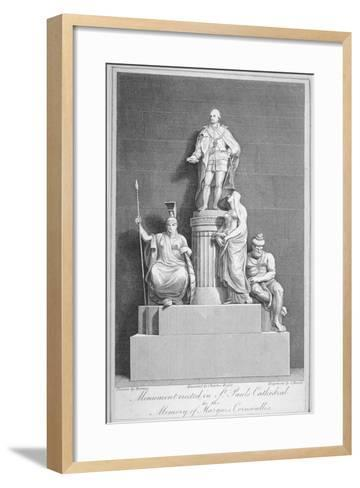 Monument to Charles, Marquis Cornwallis, St Paul's Cathedral, City of London, 1805-Samuel Rawle-Framed Art Print