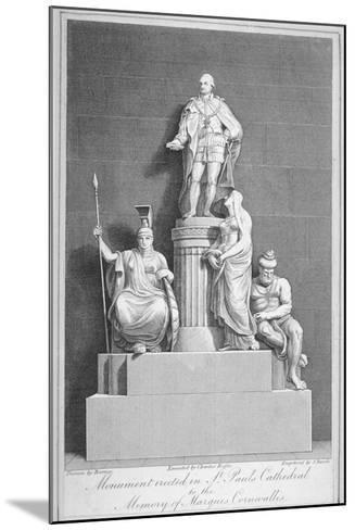 Monument to Charles, Marquis Cornwallis, St Paul's Cathedral, City of London, 1805-Samuel Rawle-Mounted Giclee Print