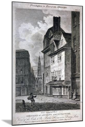 The Cock and Magpie Public House, Drury Lane, Westminster, London, 1807-Samuel Rawle-Mounted Giclee Print