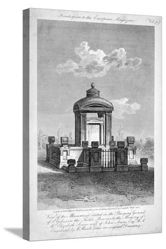 Monument in the Churchyard of St Giles in the Fields, Holborn, London, 1817-Samuel Rawle-Stretched Canvas Print