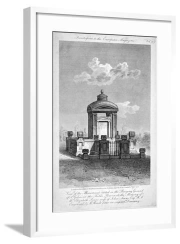 Monument in the Churchyard of St Giles in the Fields, Holborn, London, 1817-Samuel Rawle-Framed Art Print