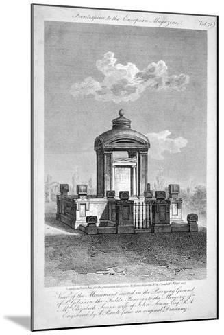 Monument in the Churchyard of St Giles in the Fields, Holborn, London, 1817-Samuel Rawle-Mounted Giclee Print