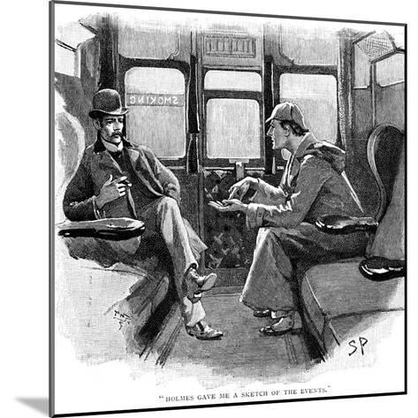 The Adventure of Silver Blaze, Holmes and Watson on Train-Sidney E Paget-Mounted Giclee Print