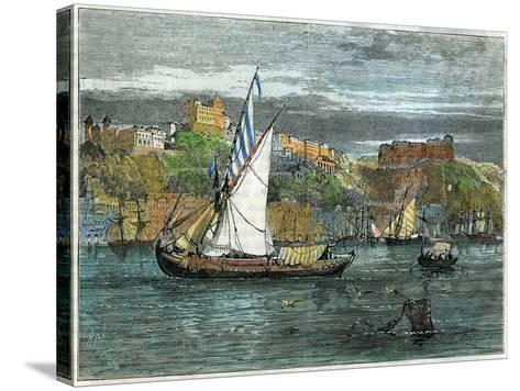 View of Oporto, Portugal, C1880- Swain-Stretched Canvas Print