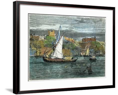 View of Oporto, Portugal, C1880- Swain-Framed Art Print