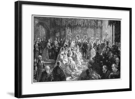 The Marriage of Princess Louise, 21 March 1871-Sydney Prior Hall-Framed Art Print