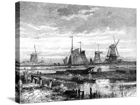 Hooge Veenen, Dordrecht, Holland, 19th Century-T Weber-Stretched Canvas Print