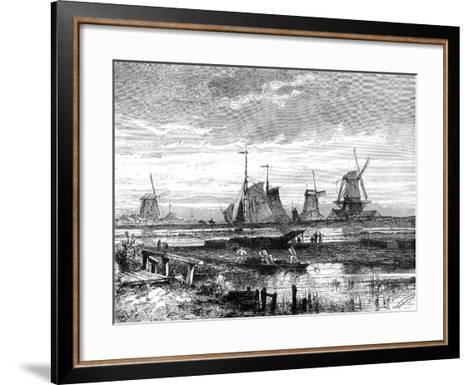 Hooge Veenen, Dordrecht, Holland, 19th Century-T Weber-Framed Art Print