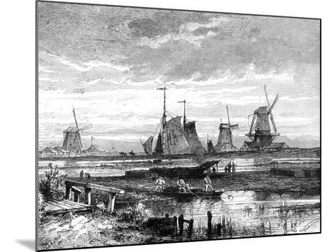 Hooge Veenen, Dordrecht, Holland, 19th Century-T Weber-Mounted Giclee Print