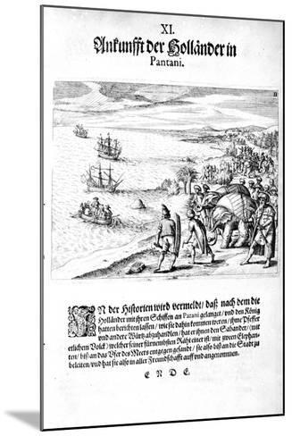 Invasion by Vice Admiral Sebold, 1606-Theodore de Bry-Mounted Giclee Print