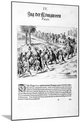 Convoy of the Queen. 1606-Theodore de Bry-Mounted Giclee Print