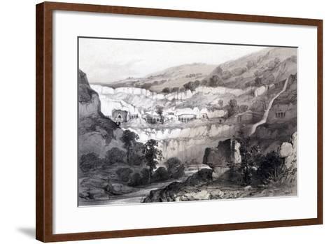 View of Caves, Ajunta, India, 1844-Thomas Colman Dibdin-Framed Art Print