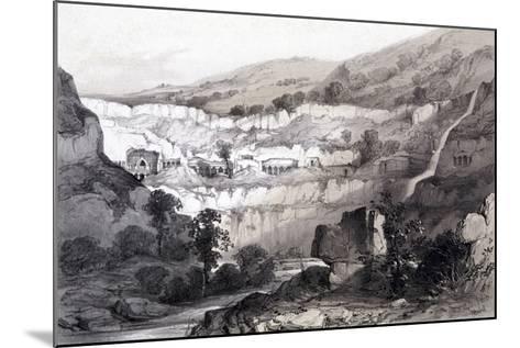 View of Caves, Ajunta, India, 1844-Thomas Colman Dibdin-Mounted Giclee Print