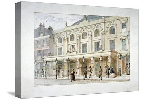 Surrey Theatre and Surrey Coffee House on Blackfriars Road, Southwark, London, C1835-Thomas Hosmer Shepherd-Stretched Canvas Print