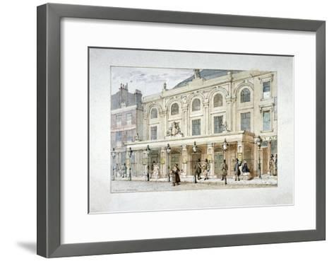 Surrey Theatre and Surrey Coffee House on Blackfriars Road, Southwark, London, C1835-Thomas Hosmer Shepherd-Framed Art Print