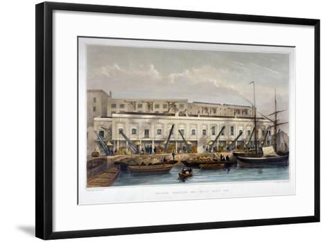 Brewer's Quay, Chester Quay and Galley Quay, Lower Thames Street, City of London, 1841-Thomas Hosmer Shepherd-Framed Art Print