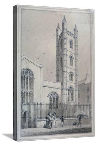 Church of St Mary Aldermary, City of London, 1830-Thomas Hosmer Shepherd-Stretched Canvas Print