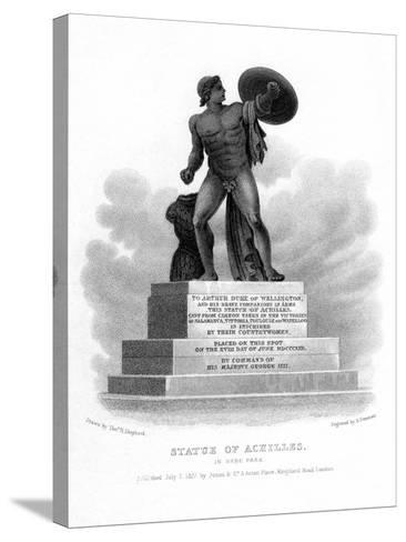 Statue of Achilles, Hyde Park, London, 1827-S Freeman-Stretched Canvas Print