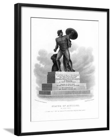 Statue of Achilles, Hyde Park, London, 1827-S Freeman-Framed Art Print