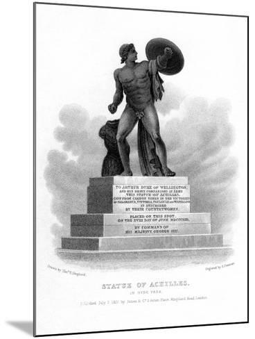 Statue of Achilles, Hyde Park, London, 1827-S Freeman-Mounted Giclee Print