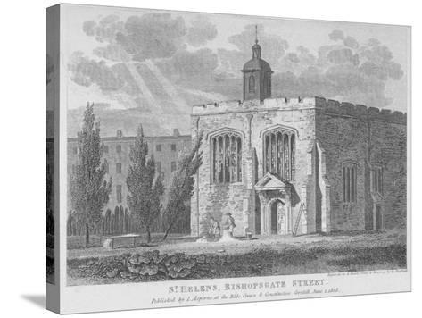 Church of St Helen, Bishopsgate, City of London, 1808-Samuel Rawle-Stretched Canvas Print