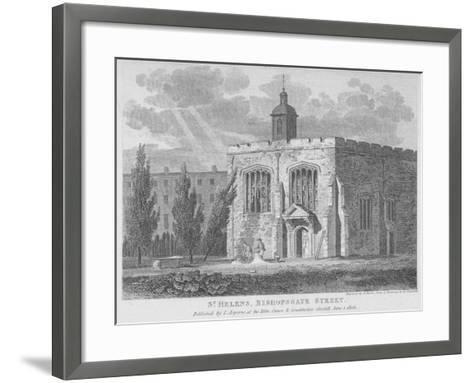 Church of St Helen, Bishopsgate, City of London, 1808-Samuel Rawle-Framed Art Print