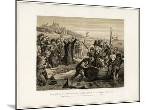 Departure of the Pilgrim Fathers from Delft Haven, July 1620-T Bauer-Mounted Giclee Print