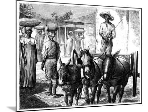 Street Scene, Haiti, 19th Century-T Wust-Mounted Giclee Print