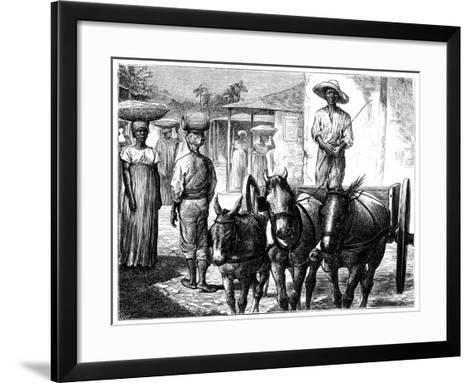 Street Scene, Haiti, 19th Century-T Wust-Framed Art Print
