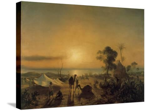 The Camp at Staoueli, 1830-Theodore Gudin-Stretched Canvas Print
