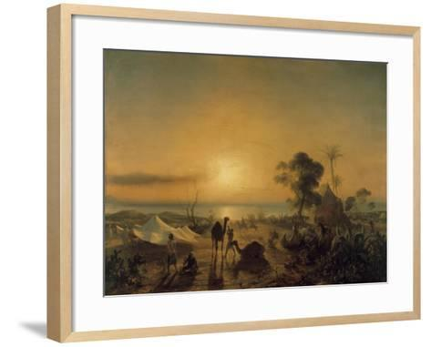 The Camp at Staoueli, 1830-Theodore Gudin-Framed Art Print