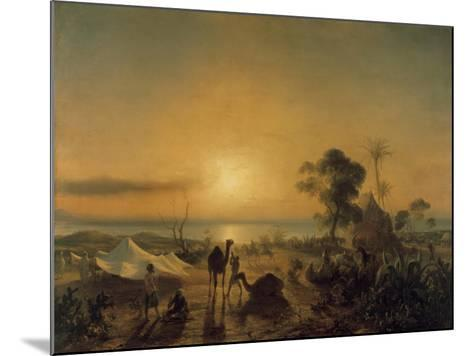 The Camp at Staoueli, 1830-Theodore Gudin-Mounted Giclee Print