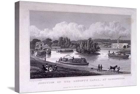 Regent's Canal, Paddington, London, 1828-S Lacey-Stretched Canvas Print