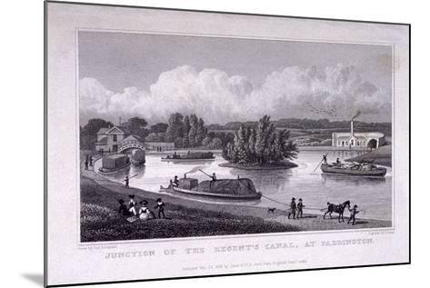 Regent's Canal, Paddington, London, 1828-S Lacey-Mounted Giclee Print