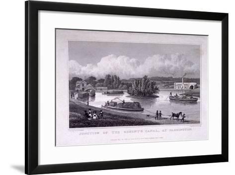 Regent's Canal, Paddington, London, 1828-S Lacey-Framed Art Print