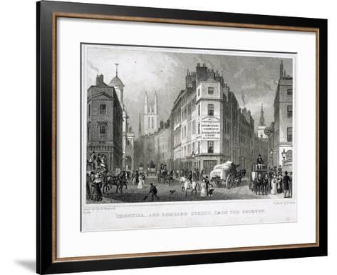 Cornhill, London, 1830-S Lacey-Framed Art Print